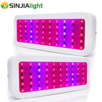 2 unids/lote 300 W LED Luz de Panel de crecimiento de planta de espectro completo fitolamp lámpara Led hidropónica para invernadero de tienda de cultivo acuario