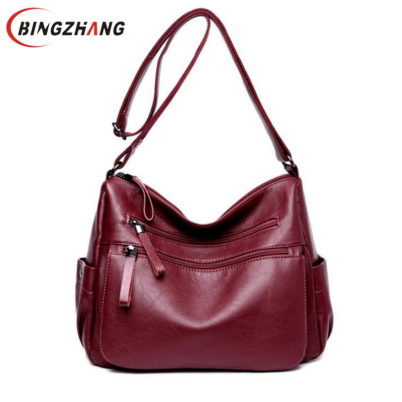 Female Casual Shoulder Bags Ladies Messenger Bag Design Zipper Hobos Women's Messenger Bags Bolsa Women Leather Handbags L4-3271 все цены