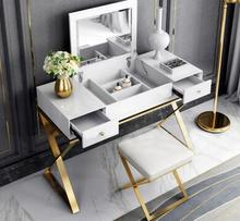 Modern simple dressing table bedroom flip American paint multifunctional light luxury stainless steel .