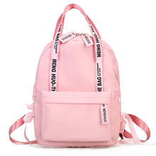 купить Women Backpack Female Shoulder Bag Nylon Pink Printing Travel Bolsas School Backpacks For Teenage Girls New Casual Sac A Dos дешево
