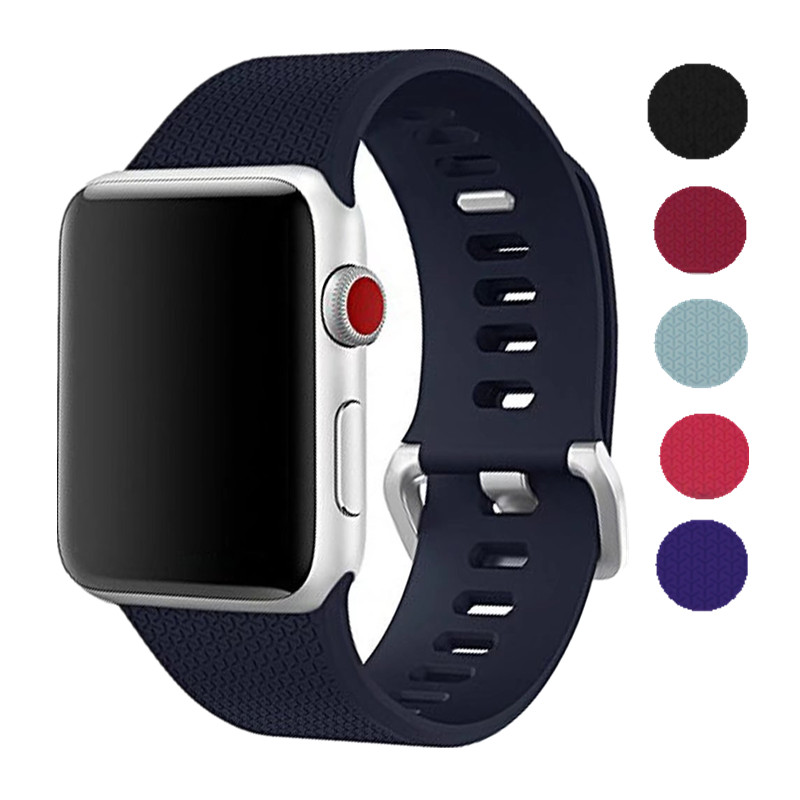 ASHEI Metal Buckle Silicone Strap for Apple Watch Band 42 mm Series 3 2 1 Sport Watchbands for iWatch Bands 38mm Edition 2018 ashei watch replacement band for apple watch series 3 2 1 vintage genuine leather watchbands for iwatch strap sport and edition