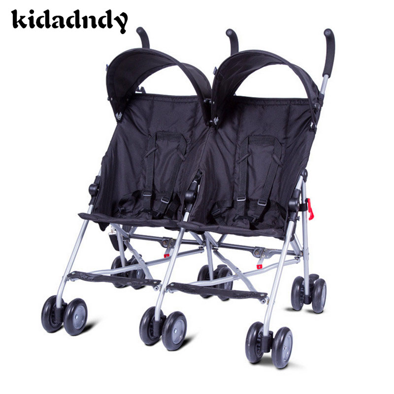 Baby Handcarts Twin stroller Newborn Baby Stroller  double car lightweight portable Four seasons available LMY0169YDLL