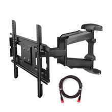 Articulating Full Movement TV Wall Mount Bracket for 32″-75″ LED LCD Plasma TVs as much as 165 lbs with VESA as much as 600×400 mm