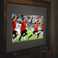 Excelvan Projector Screen 60'' 4:3 PVC Material Fabric Matte White Projector Screen for Wall Mounted Home Theater Bar Travel