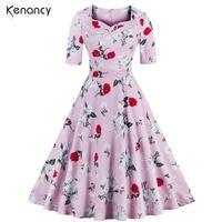 Zaful S 4XL Women Plus Size Vintage Dress Autumn Summer Sexy Sweetheart Half Sleeve Ball Gown