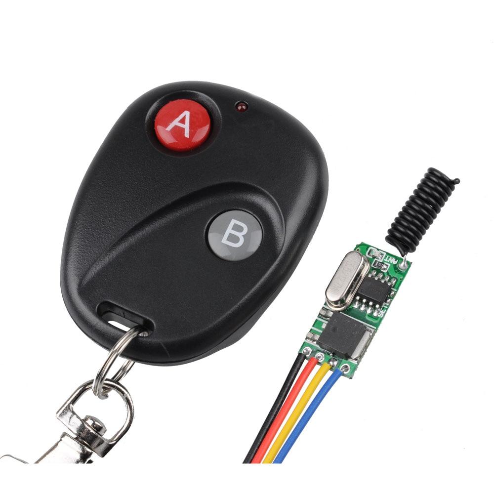 Wireless Micro Fernbedienung Schalter Mini Empfänger 3,5 v 3,7 v 4,5 v 5 v 6 v 7,4 v 8,4 v 9 v 12 v Kleinen Empfänger Sender 433,92 Mhz