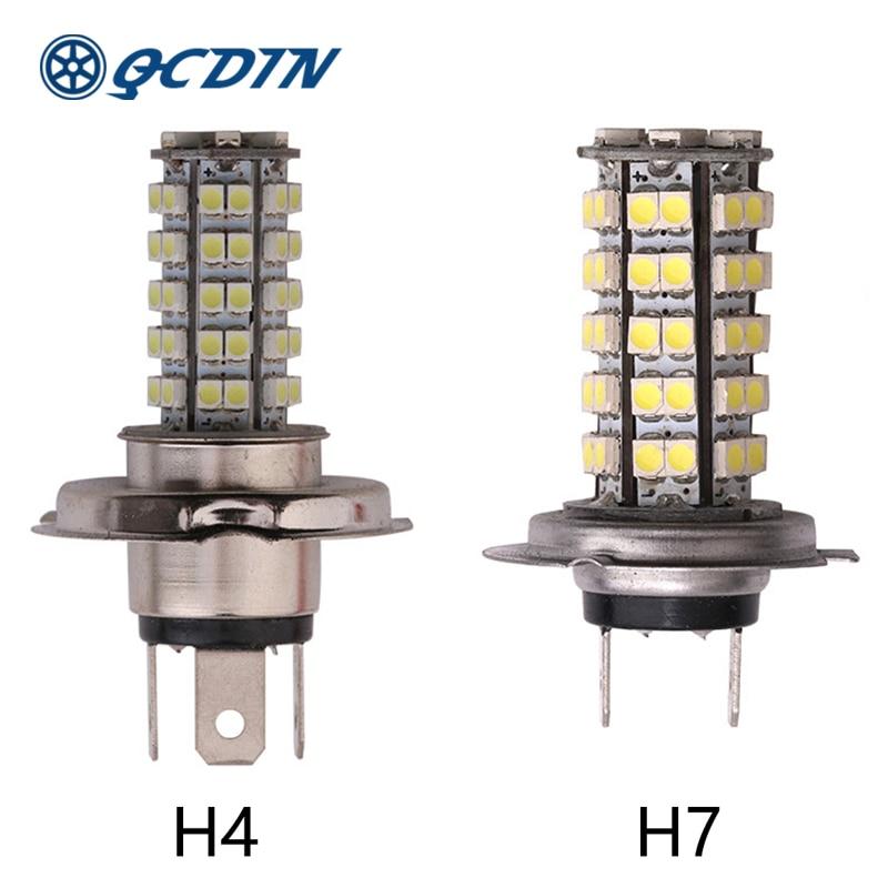 QCDIN 2Pcs H7 LED Headlight Bulbs LED H4 Car Auto Headlamp H8/H11 9005/9006 Headlight Bulbs Fog Lamp Car Light 12V