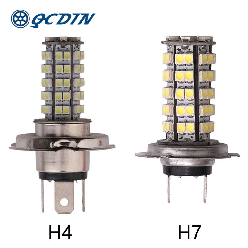 QCDIN 2Pcs H7 <font><b>LED</b></font> Headlight <font><b>Bulbs</b></font> <font><b>LED</b></font> <font><b>H4</b></font> Car Auto Headlamp H8/H11 9005/9006 Headlight <font><b>Bulbs</b></font> Fog Lamp Car <font><b>Light</b></font> 12V image