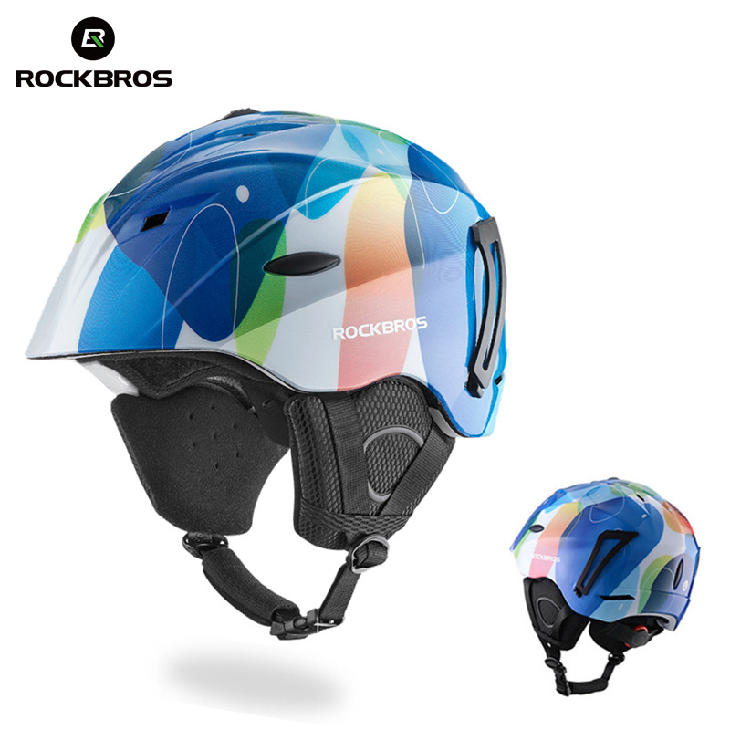 ROCKBROS PC+EPS Skiing Helmets Ultralight Integrally-molded Skating Ski Helmet Snowboard Thermal Skateboard Helmets Sport Safety цена