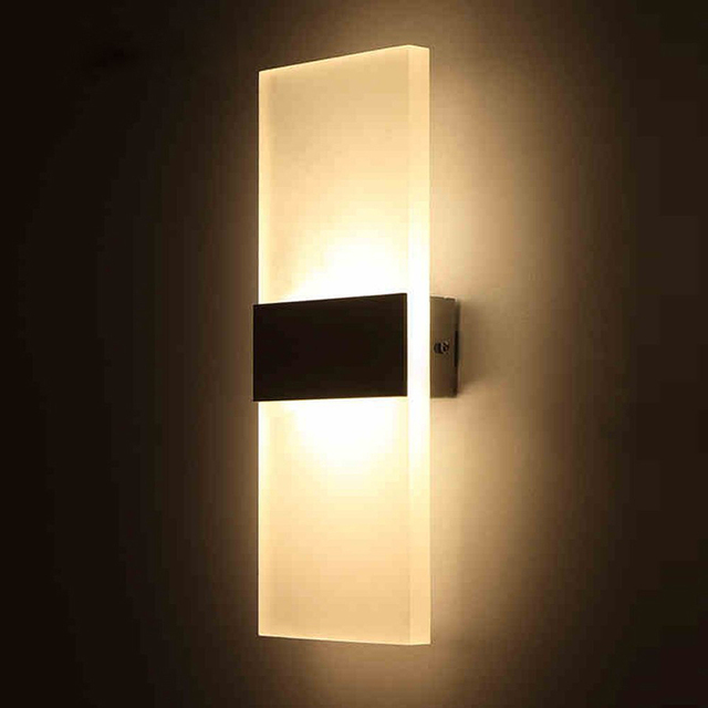 Modern Led Acrylic Wall Lamp Mounted Sconce Lights Home Decorative Living Room Bedroom Corridor Fixtures