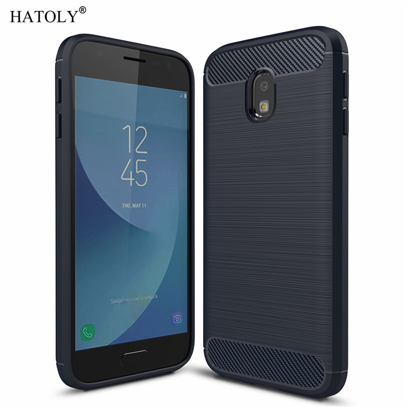 Galleria fotografica HATOLY For Capa Samsung Galaxy J3 2017 Case Soft TPU Brushed Rugger Silicone Phone Cases For Samsung J3 2017 J330F/DS EU Version
