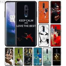 Tennis Roger Federer RF Phone Case for Oneplus 7 7Pro 6 6T Oneplus 7 Pro 6T Black Silicone Soft Case Cover