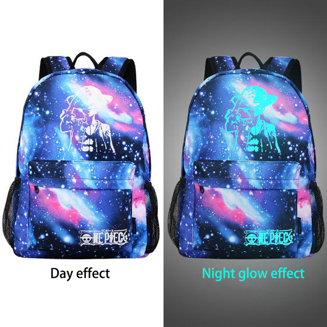 Style Men's Backpack Anime Starry sky Luminous Printing Teenagers Casual Mochila Men Women's Student Cartoon School Bags