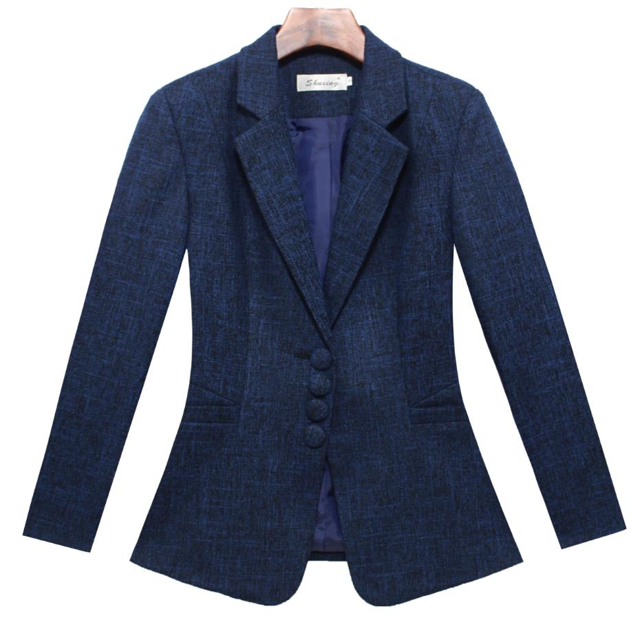 plus size 5XL 2018 Sring AUTUMN Women long Sleeve single breasted small Suit Blazer Ladies Office Work blazer
