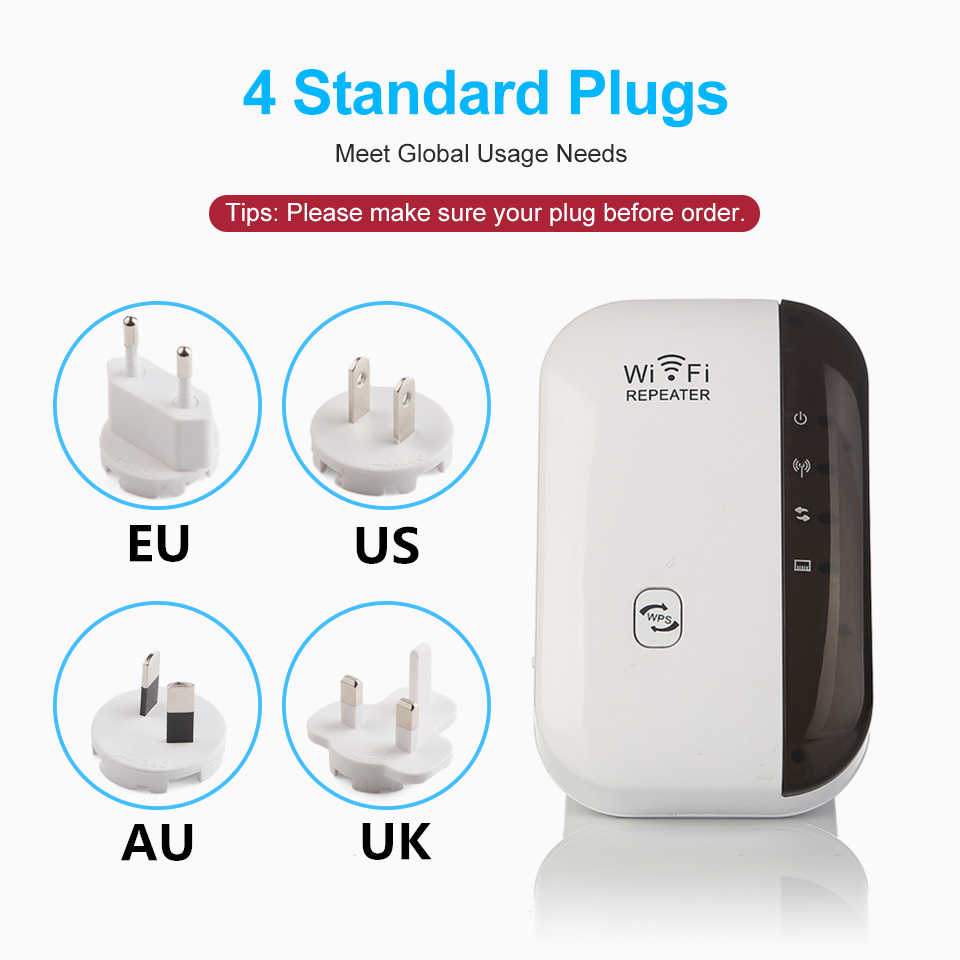 Extensor repetidor WiFi inalámbrico amplificador de señal WiFi 300Mbps WiFi Booster 2,4G WiFi Punto de Acceso Ultraboost