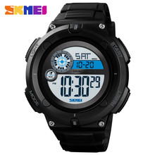 цена на SKMEI 1481 Digital Watch Men Outdoor Sport Watch New 50M Waterproof 2 Time Alarm Clock 2019 montre homme Military Men Watches
