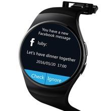 NFC Pulsmesser Smart Uhr KW18 SIM TF Smartwatch Android 2.5D OGS Touchscreen Smart Armbanduhr Bluetooth Facebook Buit