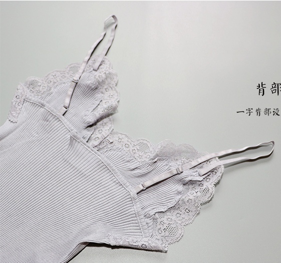 70% Silk 30% Cotton Knit Lace Camisole Top Vest Sleepwear Spaghetti Strap SG309 5