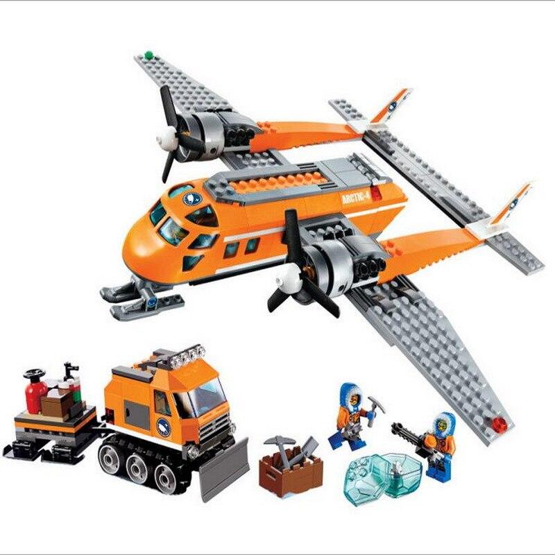 10441 BELA City Polar Adventure Arctic Supply Plane Model Building Blocks Enlighten Figure Toys For Children Compatible Legoe