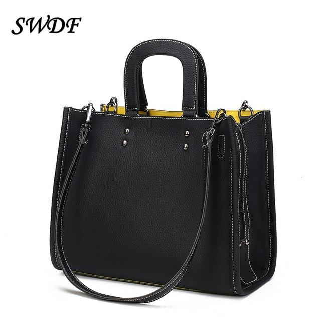 SWDF-Women's Shoulder Bag PU Women Zipper Handbags Bucket Bag Ladies Hand Bags Casual Big Female Floral Tote Bag for Ipad