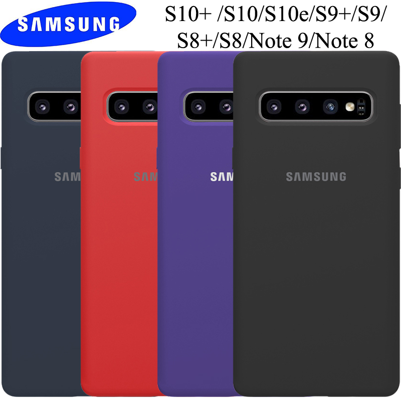 <font><b>Samsung</b></font> Galaxy S10 5G <font><b>Case</b></font> Original <font><b>Samsung</b></font> S8 S9 S10 Note 10 Plus 5G Cover Note 8 9 10 S10 Soft Liquid Silicone Back <font><b>Phone</b></font> <font><b>Case</b></font> image