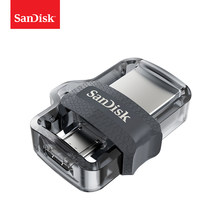 SanDisk OTG USB Flash Drive 32GB 16GB USB 3.0 Dual Mini Pen Drives 128GB 64GB PenDrives for PC and Android phones For shipping(China)