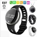 Nueva e07 smart watch deportes bluetooth pulsera inteligente ip67 a prueba de agua rastreador de ejercicios smartband llamada de recordatorio para android ios