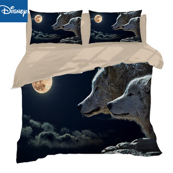 Queen size cheaper bedding set for men bed decor comforter cover double bedspread 3/4pcs animal wolf adult birthday presents new