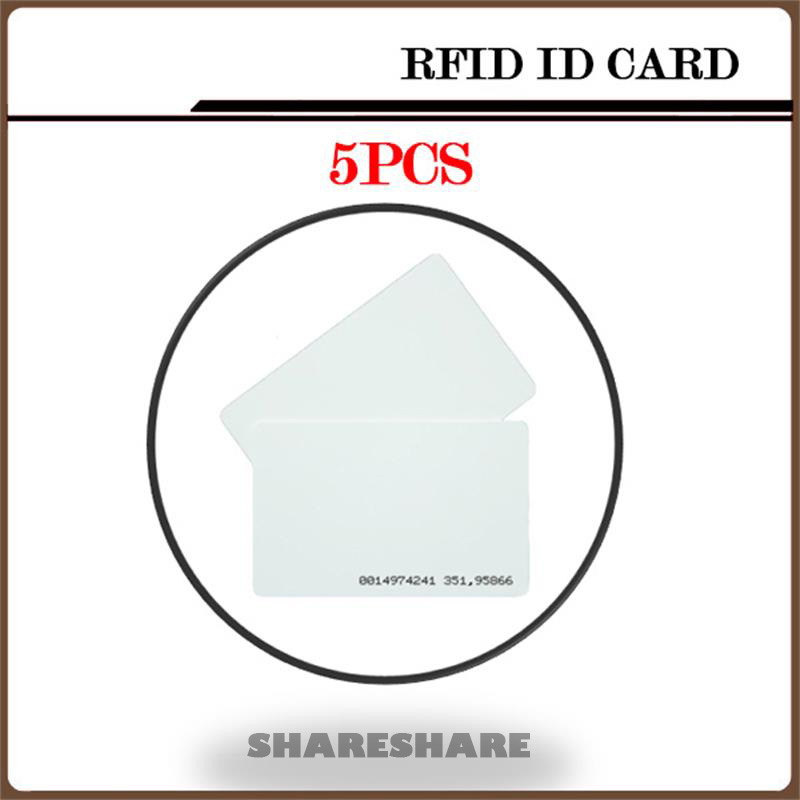 5Pcs/Lot White ID Card 125KHZ RFID Card Nfc Magnetic Stripe For Access Control System and timeclock SHARESHARE 20pcs rfid card 125khz rfid key id card nfc tags pegatinas nfc card adesivo for access control system timeclock
