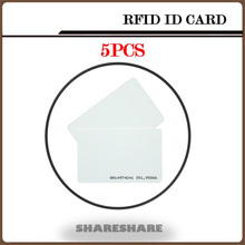 5Pcs/Lot White ID Card 125KHZ RFID Card Nfc Magnetic Stripe For Access Control System and timeclock SHARESHARE