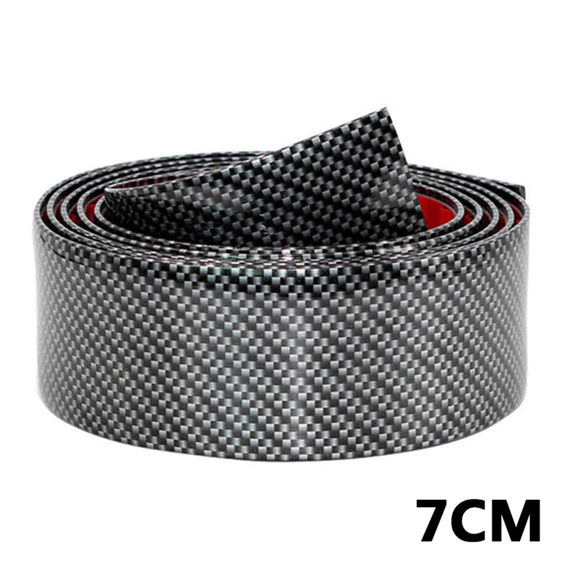 Image 5 - 2.5m Carbon Soft Black Bumper Strip Fiber Rubber DIY Door Sill Protector Edge Guard Car Stickers Car Styling Accessories#290440-in Car Stickers from Automobiles & Motorcycles