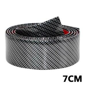 Image 5 - 2.5m Carbon miękki czarny zderzak taśmy z włókna węglowego DIY na drzwi zabezpieczenie progu osłona krawędzi naklejki samochodowe akcesoria samochodowe do stylizacji #290440