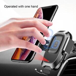 Image 2 - Baseus 10w qi carregador de carro sem fio para o iphone x xs 8 samsung s10 s9 indução infravermelha rápido carregamento sem fio do telefone carro carregador