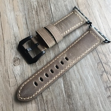 Yellow Genuine Leather watchband watch Accessories Bracelet