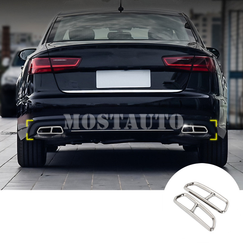 For Audi A7 S7 Rear Exhaust Muffler Tail Pipe Cover 2015