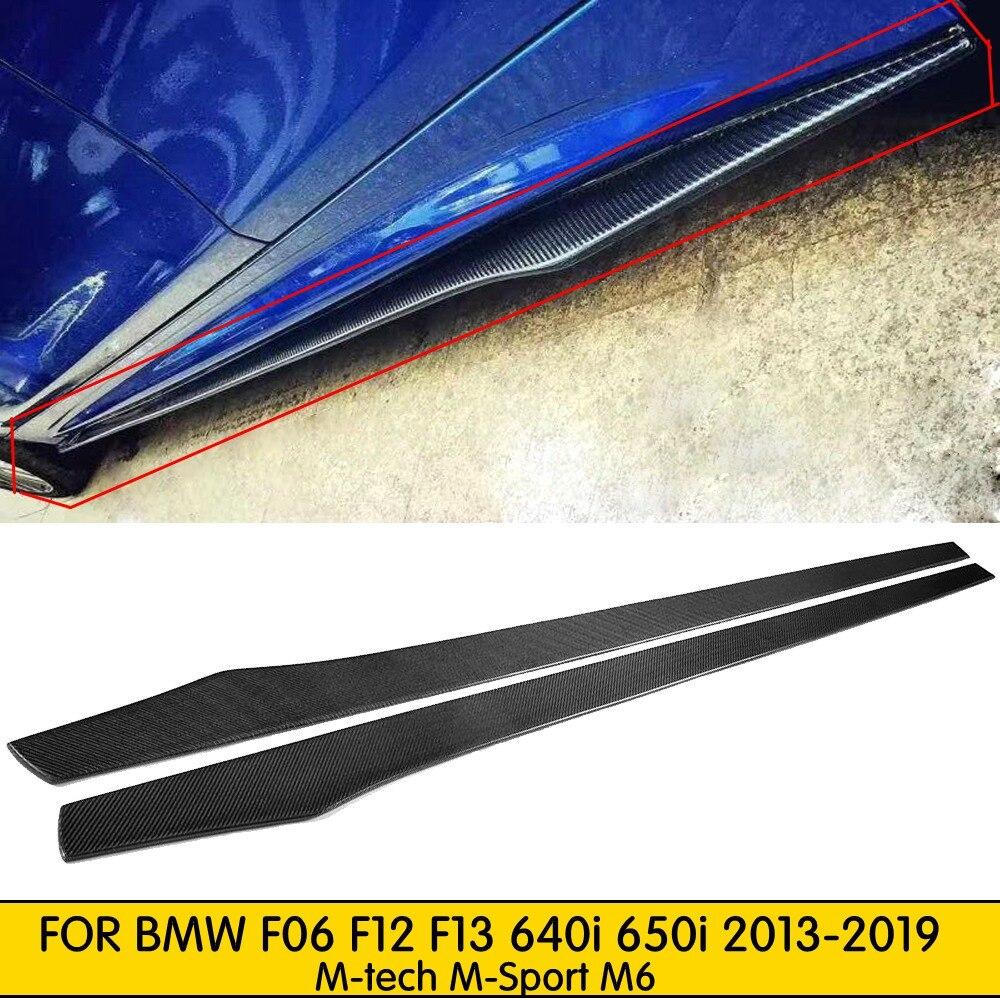 Nouveau séparateur de jupe latérale en Fiber de carbone pour BMW F06 F12 F13 640i 650i 2013-2019 m-tech m-sport M6