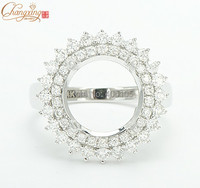 14k White Gold 6mm Round Cut Natural 088ct Full Cut Diamond Ring Mounting Jewelry