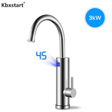 Kbxstart Stainless Steel Robinet Cuisine Instant Hot Water Heater Tap Cocina Electrica Faucet With EU Plug Or Leakage Protector
