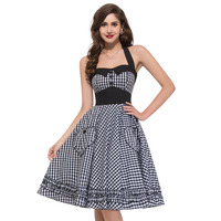 XXL XXXL Plus Size Vintage Dress Summer Real Photo Brand New 2016 50s Rockabilly Dresses Full