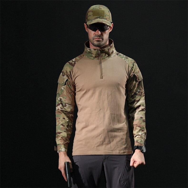 SJ MAURIE camuflagem do exército caminhadas camisas