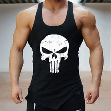 ฤดูร้อน Gym Vest Cotton Skull Tank (China)