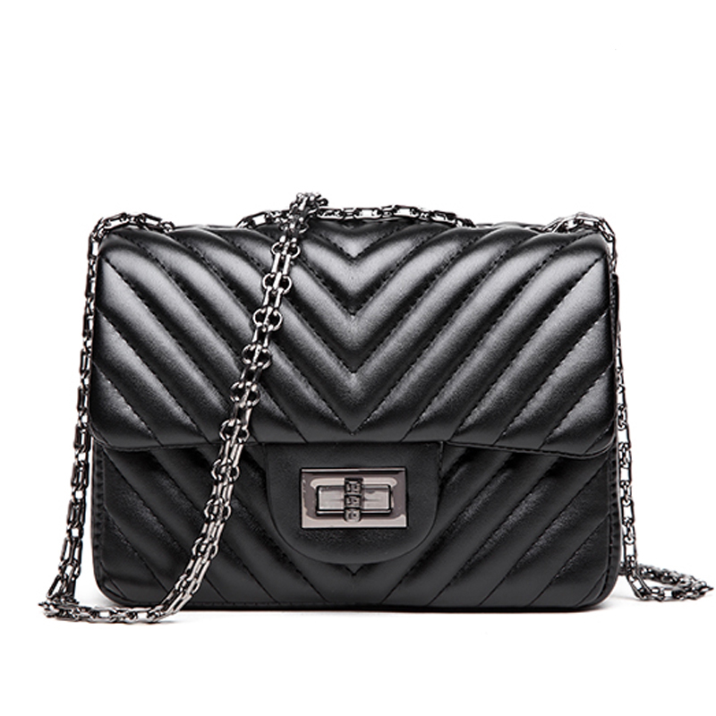Design Small Crossbody Women Messenger Chain Bag Vintage High Quality Pu Leather Bags Luxury Ladies Shoulder Bags