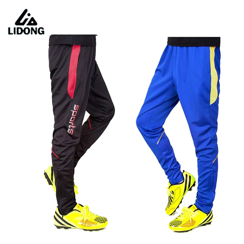 Jogger Pants Football Training 2016 Soccer Pants Active Jogging Trousers Sport Running Track GYM clothing Mens Sweatpant
