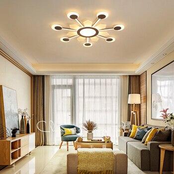 Novo controle Remoto sala de estar quarto luzes de teto modernas levaram luminarias escurecimento conduziu a lâmpada do teto Luminárias 8-35square mete