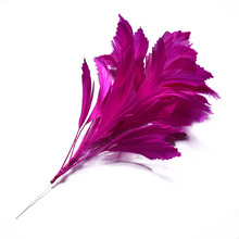 cheep! Rose red goose feather crafts 30CM colorful feathers flower for jewelry making DIY wedding brooch party decoration Plumas