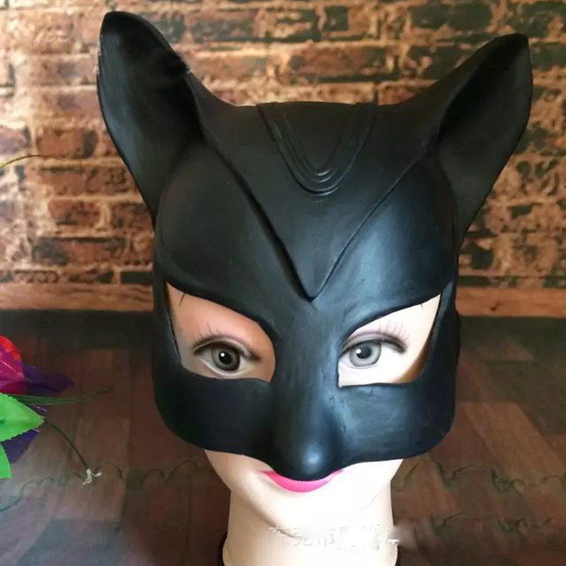 Catwoman Sexy Toy Cosplay Cat Mask  Fetish Sex Role Accessories  Female Latex Mask