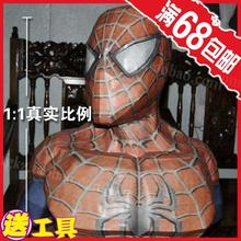 SpiderMan 1 1 Bust Spiderman dark casual puzzle DIY paper model manual decorative ornaments toy