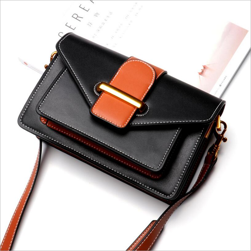 Handbag female new women handbags fashion shoulder messenger bag ladies small bag Genuine Leather in Top Handle Bags from Luggage Bags