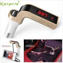 Новое Поступление G7 Bluetooth Автомобильный Комплект Громкой Связи Fm-передатчик Радио MP3 Плеер USB Зарядное Устройство & AUX или