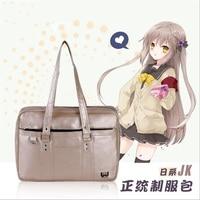 Japanese Casual JK Uniform Teenagers Cosplay Unisex Handbag PU Shoulder Bag Students School Bookbag Travel Messenger Bag Lolita